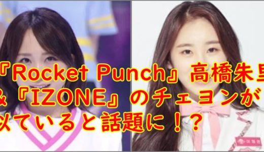 【比較画像】高橋朱里はチェヨンと似ている!顔がそっくりでファンも困惑?