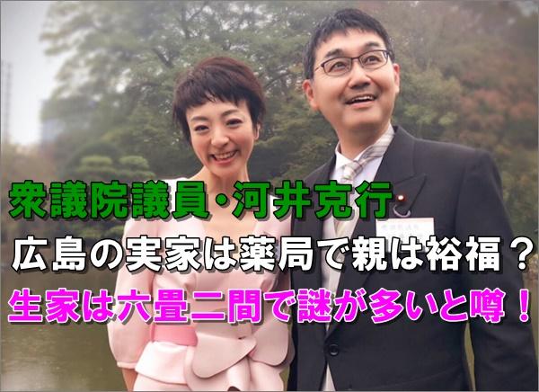 経歴 河井 克行