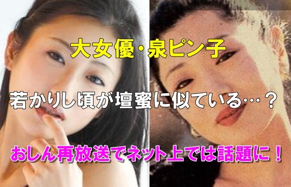 【比較画像】泉ピン子の若い頃が壇蜜に似てる?おしん再放送で話題に!